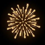 Fuego artificial del día de fiesta del vector Foto de archivo libre de regalías