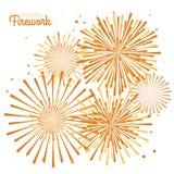 Fuego artificial del día de fiesta del vector Día de la Independencia de América Fotos de archivo