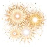 Fuego artificial del día de fiesta del vector Día de la Independencia de América Fotos de archivo libres de regalías