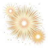 Fuego artificial del día de fiesta del vector Día de la Independencia de América Imagen de archivo libre de regalías