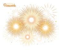 Fuego artificial del día de fiesta del vector Día de la Independencia de América Fotografía de archivo libre de regalías