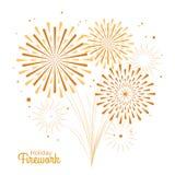 Fuego artificial del día de fiesta del vector Día de la Independencia de América Imagenes de archivo