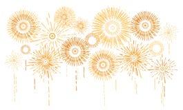 Fuego artificial del día de fiesta del vector Día de la Independencia de América Foto de archivo libre de regalías