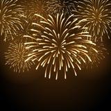 Fuego artificial del día de fiesta del vector Fotografía de archivo libre de regalías