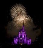 Fuego artificial del `s de Disney Foto de archivo