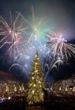 Fuego artificial del ` s Eve del Año Nuevo Fotografía de archivo libre de regalías