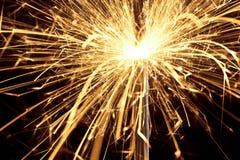 Fuego artificial del Sparkler Foto de archivo