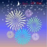 Fuego artificial en colores pastel colorido Foto de archivo libre de regalías