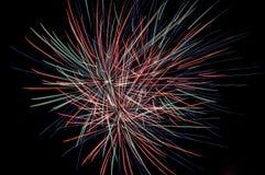 Fuego artificial en el cielo fotos de archivo libres de regalías