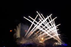 Fuego artificial en Singapur Imágenes de archivo libres de regalías