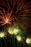 Fuego artificial festivo imagen de archivo
