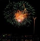 Fuego artificial hermoso Fotos de archivo