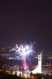 Fuego artificial Innsbruck 5 del Año Nuevo Imágenes de archivo libres de regalías
