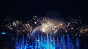 Fuego artificial más hermoso Fotografía de archivo libre de regalías