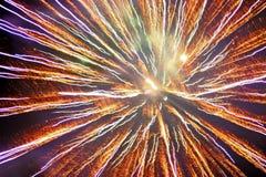 Fuego artificial multicolor imagen de archivo