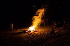 Fuego artificial natural Fotografía de archivo