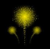 Fuego artificial para el diseño de la Feliz Año Nuevo Imagen de archivo