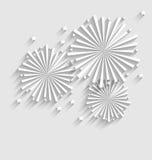 Fuego artificial para los eventos de la celebración del día de fiesta, sombra larga del estilo plano Foto de archivo