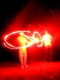 Fuego artificial Redz Foto de archivo