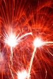 Fuego artificial rojo Fotos de archivo libres de regalías