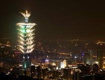 Fuego artificial Taipei101 Foto de archivo libre de regalías