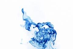 Fuego azul Foto de archivo libre de regalías