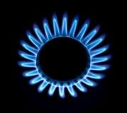 Fuego azul de un gas fotos de archivo libres de regalías