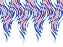 Fuego azul sobre blanco stock de ilustración