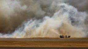 Fuego bajo del aeropuerto en el EL Salvadore, America Central Imagen de archivo libre de regalías