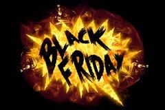 Fuego Black Friday ilustración del vector