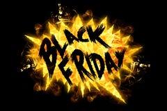 Fuego Black Friday stock de ilustración