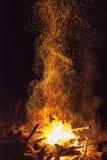 Fuego brillante Fotografía de archivo libre de regalías