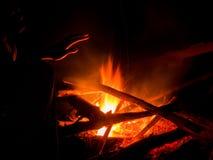 Fuego caliente del campo Foto de archivo libre de regalías