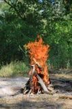 Fuego caliente del campo Fotografía de archivo