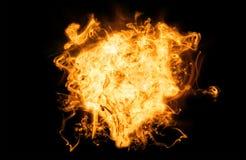 Fuego caliente en negro Fotografía de archivo