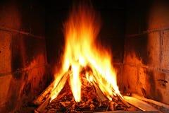 Fuego casero Imagen de archivo libre de regalías