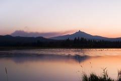 Fuego cerca de Mt. Washington Imagenes de archivo