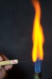 Fuego coloreado fotografía de archivo libre de regalías