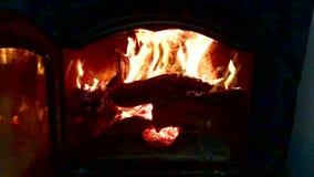 Fuego con la quema de las llamas almacen de video