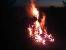 Fuego crepuscular Imagen de archivo