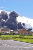 Fuego de Brucefield en Lothian del oeste Fotos de archivo