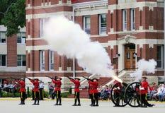 Fuego de cañón de RCMP Fotos de archivo