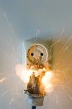 Fuego de Eletrical fotos de archivo libres de regalías