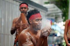 Fuego de fabricación aborigen Fotos de archivo