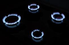 Fuego de gas fotografía de archivo libre de regalías