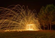 Fuego de giro foto de archivo