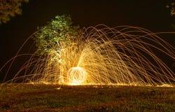 Fuego de giro fotografía de archivo libre de regalías