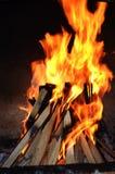 Fuego de la barbacoa Fotos de archivo libres de regalías
