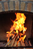 Fuego 2 de la barbacoa Imagen de archivo