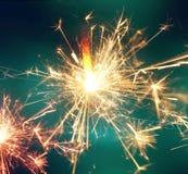 Fuego de la bengala Fondo de la celebración del Año Nuevo Imágenes de archivo libres de regalías